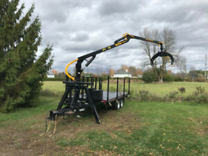 Road Forestry Trailer with Grapple Loader