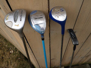 Ladies Right Hand Assorted Golf Clubs