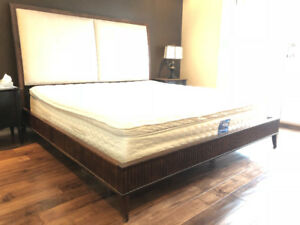 Kind size bed frame and headboard