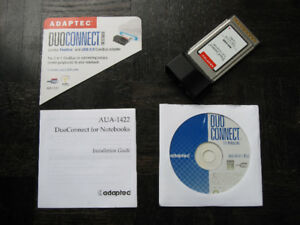 Adaptec DuoConnect Combo FireWire & USB Notebook CardBus Adapter