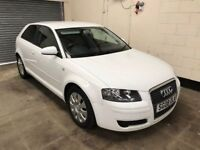 2008 A3 1.9 TDI (100 PS) Special Edition, Ibis White £30 Tax, Air Con, 12 Month Mot 3 Month Warranty