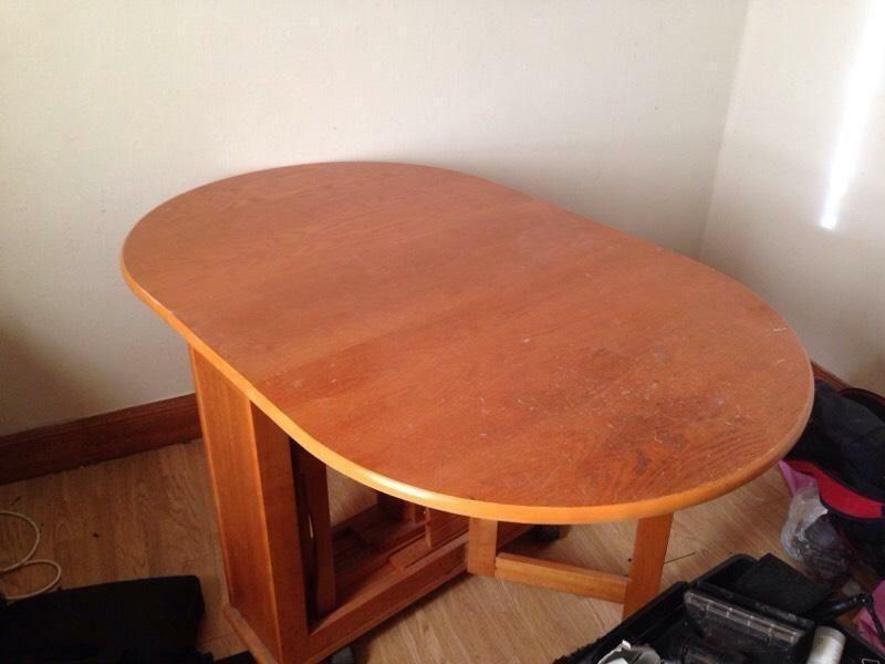 Dining Table Fold Away In Alloa Clackmannanshire Gumtree