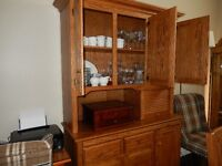 SOLID OAK AMISH MADE CABINET