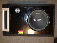 8 inch alpine car audio subwoofer and box