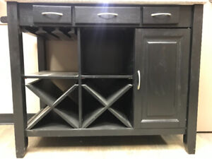 Wine cabinet, granite top