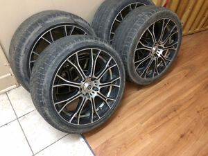 """18"""" Konig rims with old tires on them"""