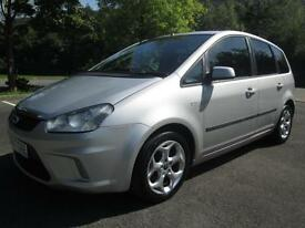 07/07 FORD FOCUS C-MAX 2.0 ZETEC AUTOMATIC IN MET SILVER WITH ONLY 76,000 MILES