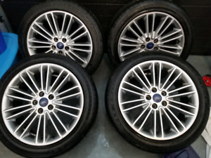 2015 ford fusion mags tires 235/45/18 goodyear 9/32