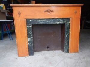 Fireplace Mantel-antique