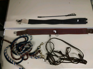 Horse ride tack western riding cinch bridle lead ropes