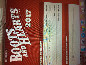 Boots and Hearts Tickets for Sale