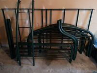 Twin/Full Metal Bunk Bed (Dark Green)