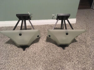 Two brand new semi flushmount lights