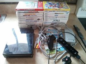 Nintendo WII noire complet compatible gamecube 24 jeux Mario