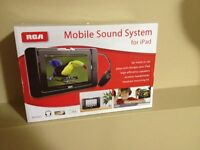 RCA Mobile Sound System for iPad for Home or Car - Brand New.