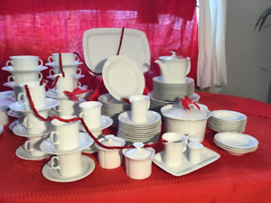 Vaisselle blanche d'Allemagne, Arzberg, white dishes Germany