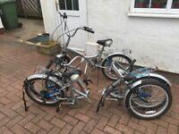 Bicycles folding