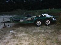 16'ft Double Axle Car Trailer Certified