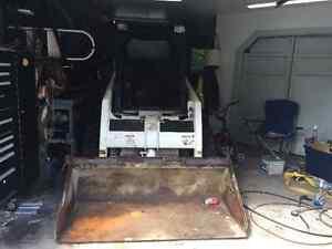 Bobcat Loader, Dump Truck with Hiab  Boom, New 16' Float