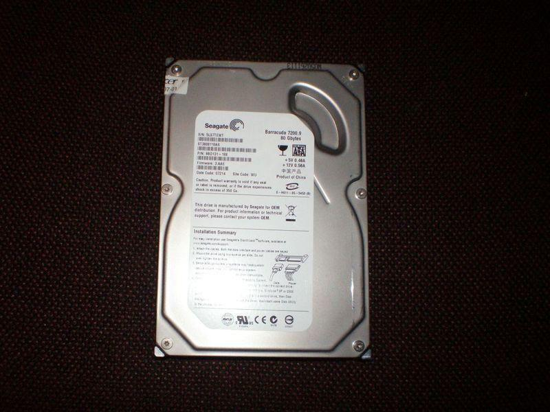 3.5 PC Desktop 80GB SATA Hard Drive