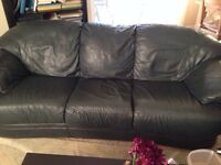 Couch and loveseat! Leather!