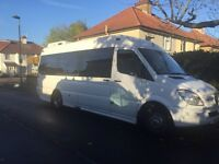 Minibus hire with driver, 9-35 seater Minibus/Bus rental with driver