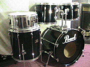 "5Pce*PEARL""Export""Pearl's Flagship Pro.Drum kit*TripleBlk*Mint! Windsor Region Ontario image 1"
