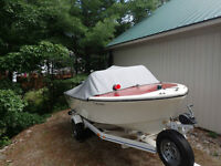 17' Fibreglass boat with 50HP