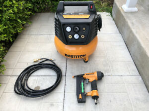 "Bostitch 6-Gallon Compressor and 2"" 18-Gauge Brad Nailer Kit"