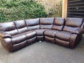 HARVEYS Bel Aire Leathaire reclining corner sofa ex display model