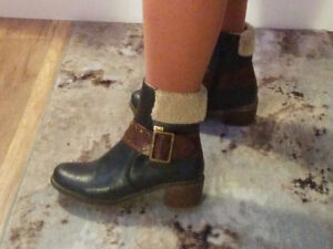 Size 6 & 6.5  -  some booties, some tall boots  (black & browns)