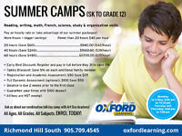 OXFORD RICHMOND HILL SOUTH SUMMER CAMPS & TUTOR (AGES 6+ to 17)
