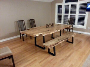 Reclaimed rustic, custom furniture, tables benches. Doors Cambridge Kitchener Area image 8