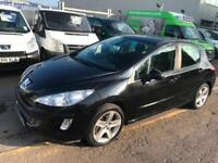 Peugeot 308 1.6HDI ( 110bhp ) SPORT IN BLACK CLEAN CAR SUPERB DRIVE LONG MOT !!!
