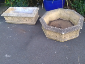 Cotswold stone planters in good condition