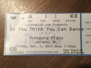 SYTYCD - So You Think You Can Dance    Prospera Place