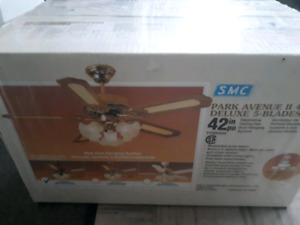 Ceiling Fan W/ Light - New in box and plastic