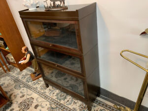 Antique Barrister bookcase stacking mission style