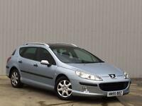 Peugeot 407 SW 1.6HDi 110 2005MY S 12 MONTHS MOT VERY ECONOMICAL FAMILY CAR