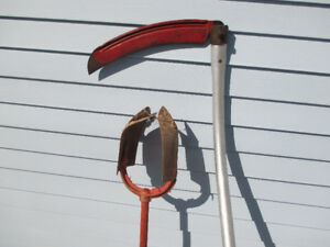 For sale,   Bush Scythe and Post  Hole Digger