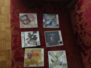 Jeux Game Boy, DS, 3DS et Wii U à vendre