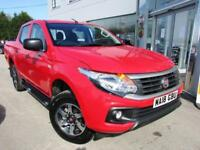 2018 Fiat Fullback 2.4 JTD SX Double Cab Pickup 4WD 4dr (EU6) Diesel red Manual