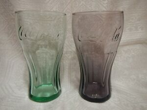 "Vintage COCA-COLA Glass Tumblers 6"" made by Libbey Lot of 3"