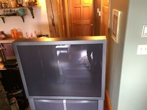"""55"""" REAR PROJECTION TELEVISION"""