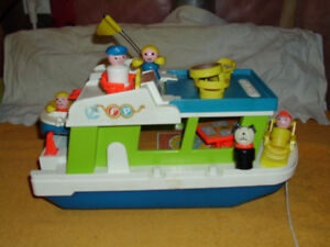 fisher price collectible 60s vintage houseboat