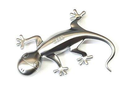 Audi Designgecko 80A087000 Aluminiumoptik Gecko Aluminium Skulptur Magnet Clip