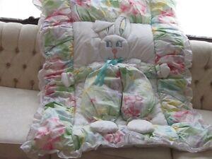 Brand New 6 Piece Crib Set - 3 Dimensional Bunny