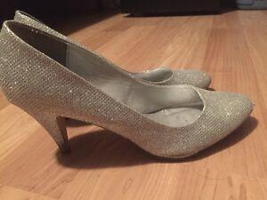 Sparkle Silver Heel