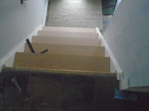 laminate flooring Stair caping installation custom made