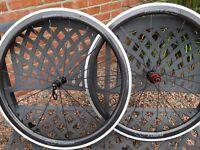 Planet X CT45 carbon clincher wheelset Shimano Sram near new 11 speed Mavic fulcrum